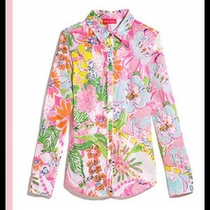 Lilly Pulitzer for Target button up top